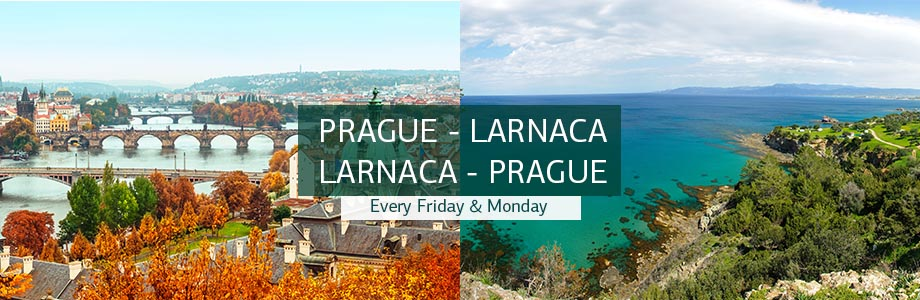 Flights Prague - Larnaca and Larnaca - Prague from 50€ (ROUND TRIP)