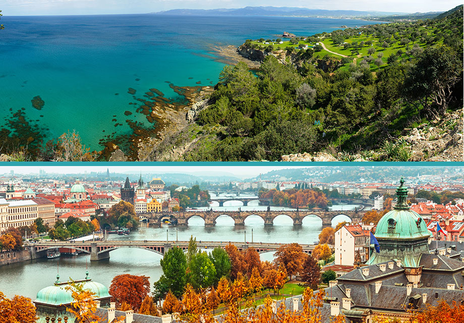 Flights Prague - Larnaca or Larnaca - Prague from 50€ (round trip)